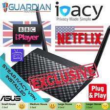 ASUS RT-AC51U 5 Yr Ivacy VPN Router plug' play IPTV US-Netflix UK-iPlayer