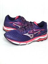 Mizuno Wave Inspire 12 Running Shoes Purple/Silver/Coral Women's Size 11W Wide