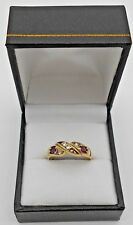 Gorgeous Ladies' 9ct Solid Gold Diamond Ring Fully Hallmarked SIZE Q