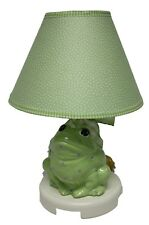 Green Frog with Blue Dots Ceramic Table Lamp w/Shade