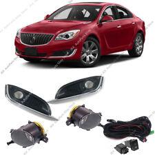 For Buick Regal 2014-2017 Front Bumper Bezels k Fog Lights Lamps w/ Harness Kit