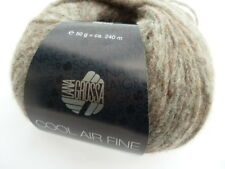 NEW : Cool Air Fine 50g Lana Grossa Finest Merino Wool Color Colour 011 Taupe