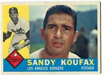 Sandy Koufax 1960 Topps Card