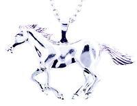 Silver tone horse / pony charm necklace, fairy-tale fashion jewellery