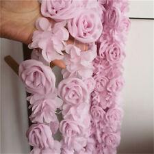 50cm 3D Rose Flower Chiffon Lace Trim Ribbon Sewing Fabric Clothes Diy Dress Hem
