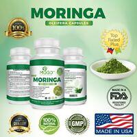 180 Organic Moringa Leaf Powder Capsules.Pure,Vegan,Weight Loss Superfood