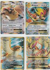 4x LOT Pokemon EVOLUTIONS Ex Full Art Mega PIDGEOT 105/108 + 65/108 104/108 +