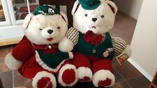 1992 K-mart Christmas Bear Vintage    Stuffed Animal Male/female red/green 22""