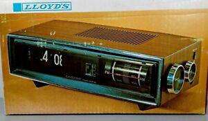 Vintage Lloyd's Digital Flip Number Clock Radio AM/FM Alarm Wood Grain J615G NEW