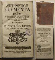 Reuss Arithmeticae Elementa in usum Scholarium Humaniorum Provinciae 1757 sf