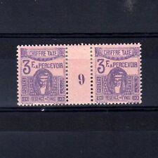 TUNISIE Taxe n° 49 neuf avec charnière - Paire millésime 9