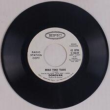 DONOVAN: Riki Tiki Tavi USA EPIC DJ Promo Folk Psych 45 NM