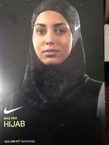 Nike Pro HIJAB Style NJNM60972S Black / Grey   XS/S, M/L NIB $35