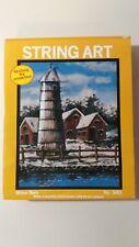"1979 String Art w/ Decoupage ""Winter Barn"" by McNeill No. 3001 Free Shipping"