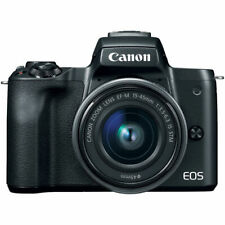 Canon EOS M50 Mirrorless Digital Camera with EF-M 15-45mm camera Kit - Black