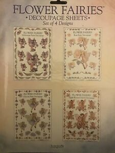 Flower Fairies Decoupage Sheets by Cicely Mary Barker - Set of 4 Designs