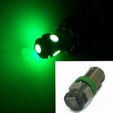 2Pcs T11 BA9S 5050 5-SMD LED Green Light Bulb Car Lamp DC 12V T4W 3886X H6W 363