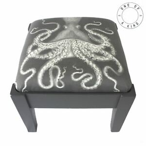 CHARCOAL OCTOPUS FOOTSTOOL