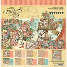 "GRAPHIC 45 ""IMAGINE""12X12 PAPER COLLECTION PACK  STEAMPUNK  SCRAPJACK'S PLACE"