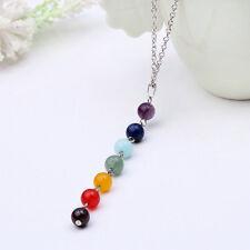 Women Fashion 7 Chakra Beads Pendant Yoga Reiki Healing Balancing Necklaces Gift