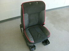 Ford F-150 FX2 FX4 right front seat black leather/seude red piping