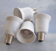 FOUR White Adapters To use E26/E27 Standard Bulbs in a  E17 Intermediate socket