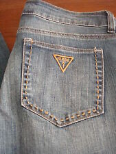 NWT GUESS SUPER LOW RISE,SLIM STRAIGHT JEANS 100% AUTHENTIC(27)