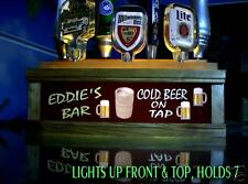Neon style font 7 beer tap handle lighted display sign