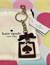 NEW Kate Spade Cut Out Spade Key Chain Ring Fob Charm in Deep Plum $38