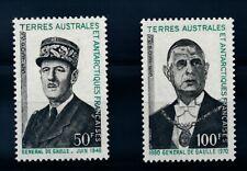 B2869 - TAAF - Timbres N° 46 et 47 Neufs** Général de Gaulle