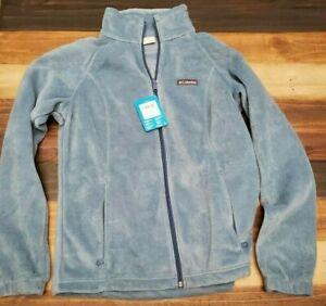 Columbia Women's Benton Springs Full Zip Fleece Jacket Blue Heron Large NIH
