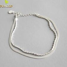 Damen Doppel Armband / Fußkettchen echt Sterling Silber 925 Fußkette Armkette