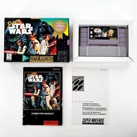 Super Star Wars (Super Nintendo, 1992) Authentic Complete w/ Box & Manual Tested