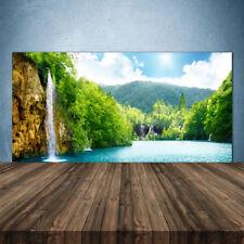 Crédence de cuisine en verre Panneau 140x70 Paysage Montagnes Forêt