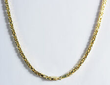 "14.20 gm 14k Solid Gold Yellow Men's Women's Byzantine Chain Necklace 24"" 2mm"
