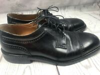 FLORSHEIM Imperial Black Leather Men's Shoes / Size 10 D  / Oxford / Cap Toe /