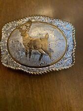 Crumrine belt buckle with Deer
