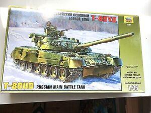 VTG Zvezda 1/35 Russian Main Battle Tank T-80UD Model Kit #3591