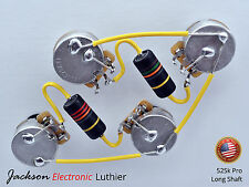 Les Paul Wiring Harness Emerson Bumblebees Caps CTS Pro 525 k Pots Long Shaft