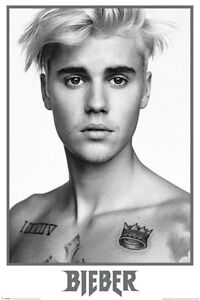 JUSTIN BIEBER BLACK AND WHITE POSTER (61X91CM) NEW PRINT ART PIN-UP MUSIC LARGE