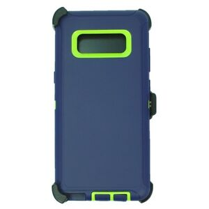 Navy Green For Samsung Galaxy Note 8 Defender Case Cover w/ (Clip fits Otterbox)