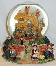 Boyds Bearly-Built Villages Musical Globe, Bailey'S Cottage, #19000, 1st Ed, New