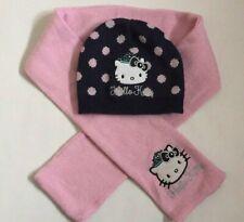 Sciarpa 3-6 ans Berretto e guanti bambino ragazza hello kitty a righe rosa di 3/a 9/anni rosa rosa//blu 52