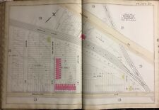1888 FENWAY KENMORE BOSTON & ALBANY RAIL ROAD MASSACHUSETTS PLAT ATLAS MAP