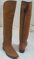 Steven by Steve Madden Womens Smoken Leather Riding Tall Boot Cognac Size 9.5