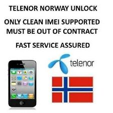 Unlock Telenor Norway iPhone 4 4S 5 5S 5C Permanent DIRECT SOURCE / INSTANT
