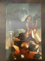 Vampirella Red Sonja #1 Gerald Parel 2019 NYCC Virgin Exclusive Cover NM 9.4
