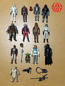 Star Wars Lili Ledy Huge Lot of 13 Figures + accessories Yoda Vader Stormtrooper