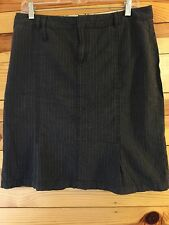 *AMERICAN EAGLE* Women's Juniors Gray Striped Pleated Skirt Size 10