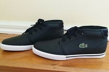 Men's 'Lacoste' black leather sneakers UK size 7